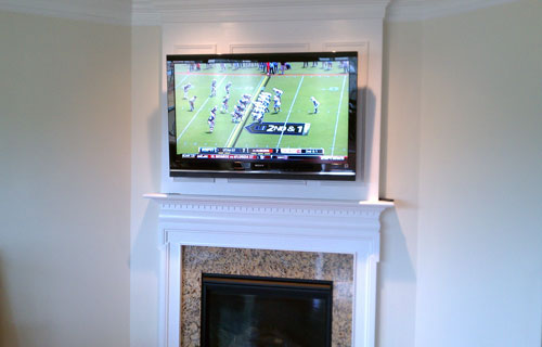 Tv Installed Over Fireplace on mount tv over fireplace